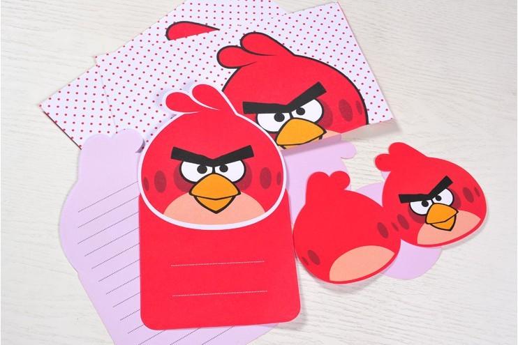 广博愤怒的小鸟可爱卡通信纸套装