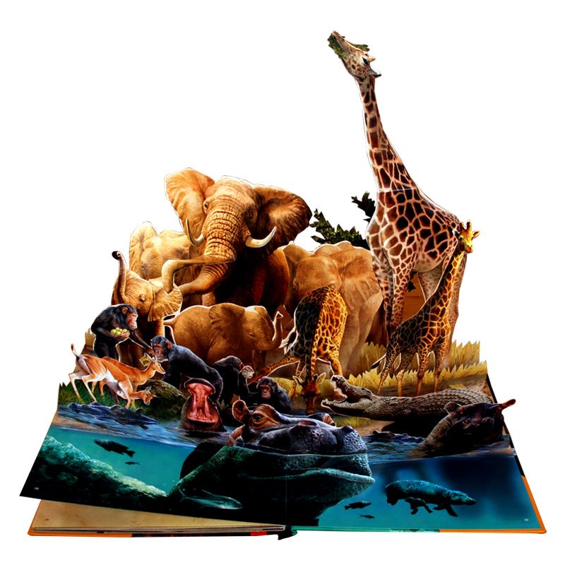 正版包邮立体书动物之最 童书乐乐趣幼儿立体书儿童3d立体书科普翻翻