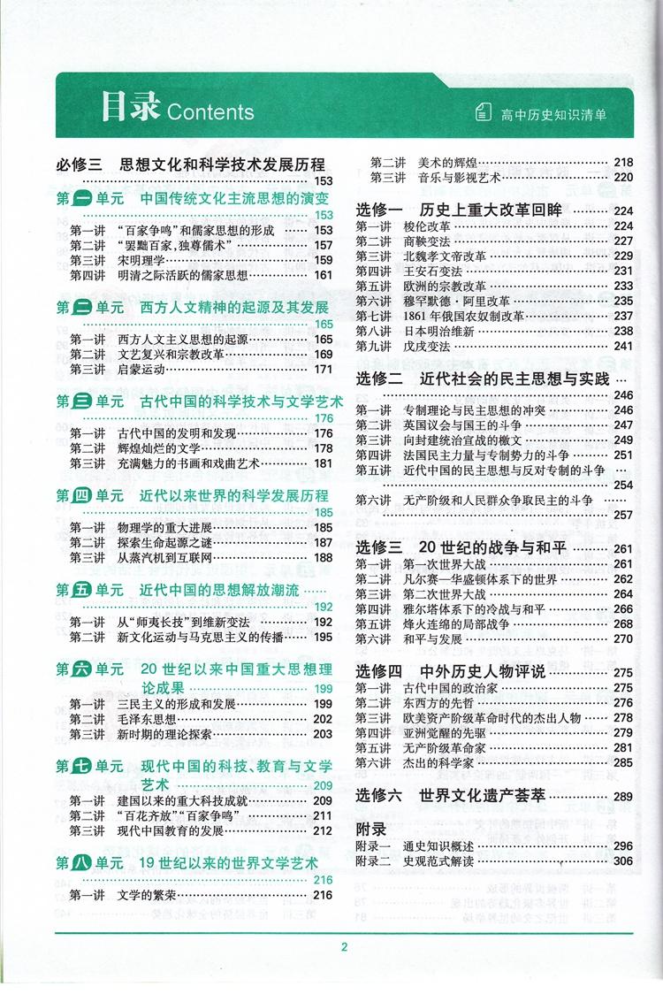 曲一线 正品2015版 高中知识清单 历史 课标版 53必备工具书配套工具