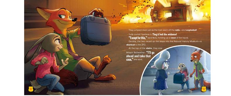 疯狂动物城(迪士尼英语家庭版) 疯狂动物城双语图画故事书 附带单词表