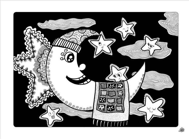 少儿美术启蒙丛书 儿童黑白线描画启蒙 吴杰主编 湖北美术出版社 少儿