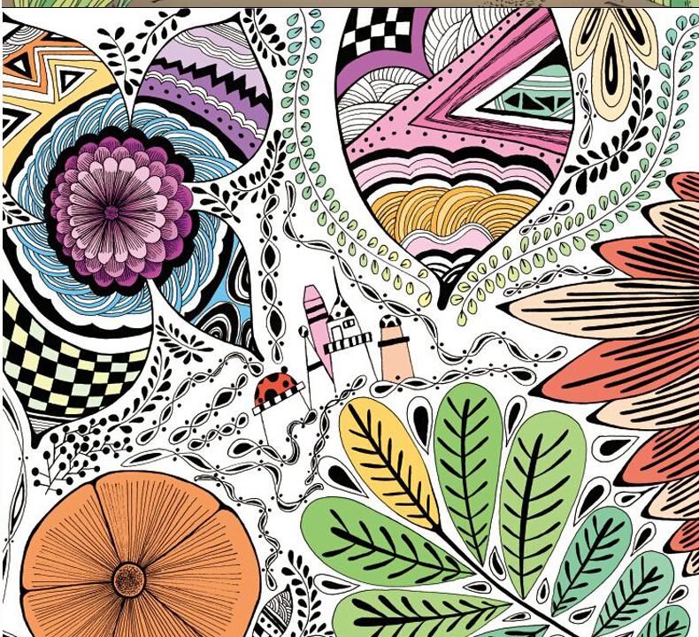 你的手绘涂色魔法册 秘密森林 魔幻花园(2册)减压涂色书韩国成人手绘