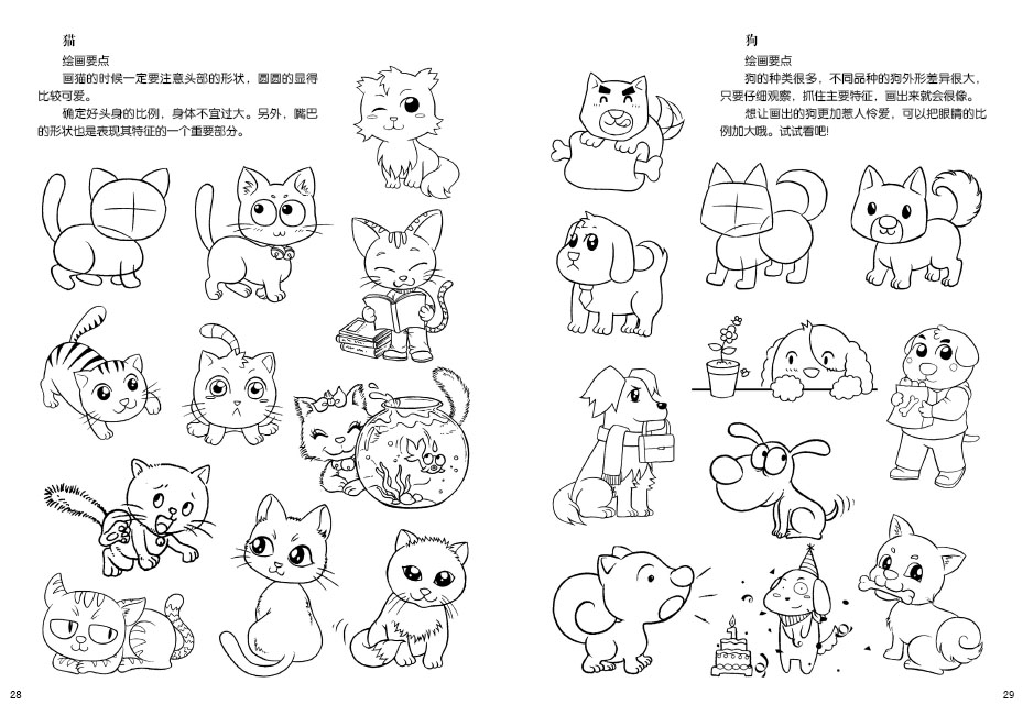 新编卡通入门教程基础造型 q版人物动物   课 工具介绍 彩色铅笔及