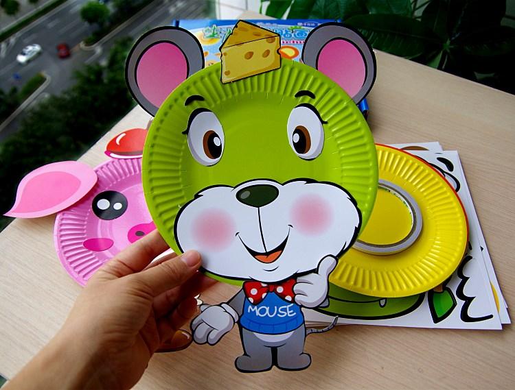 儿童手工diy幼儿园创意贴画动手玩具美术纸盘贴纸3-5-7岁_a款蜗牛款