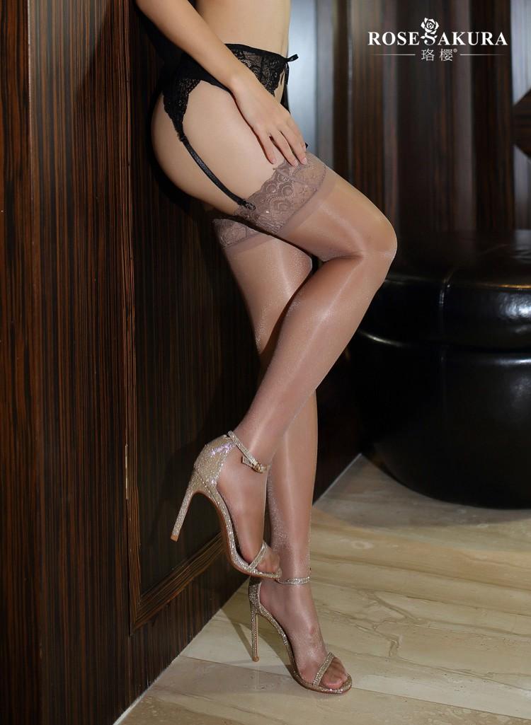 厂家蕾丝套装孔雀sm装丝袜防滑黑丝大腿花边硅胶长筒袜激情袜7082情趣情趣用品深证图片