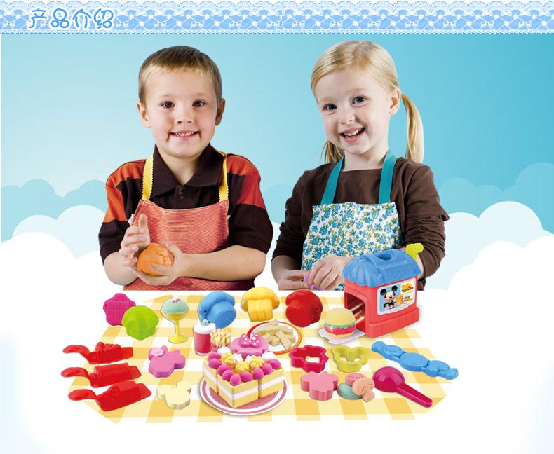 迪士尼3d打印泥美食屋 超轻彩泥橡皮泥 不干无毒彩泥亲子玩具* .