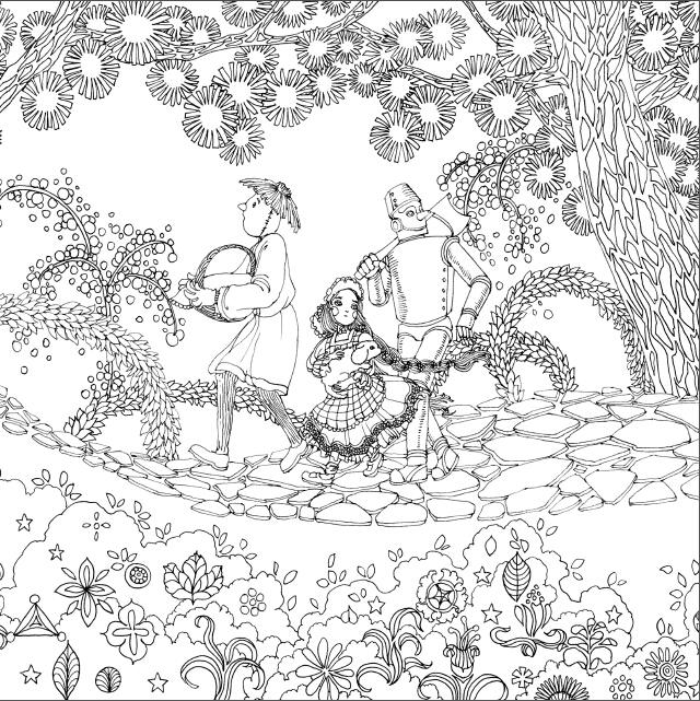 森林背景简笔画