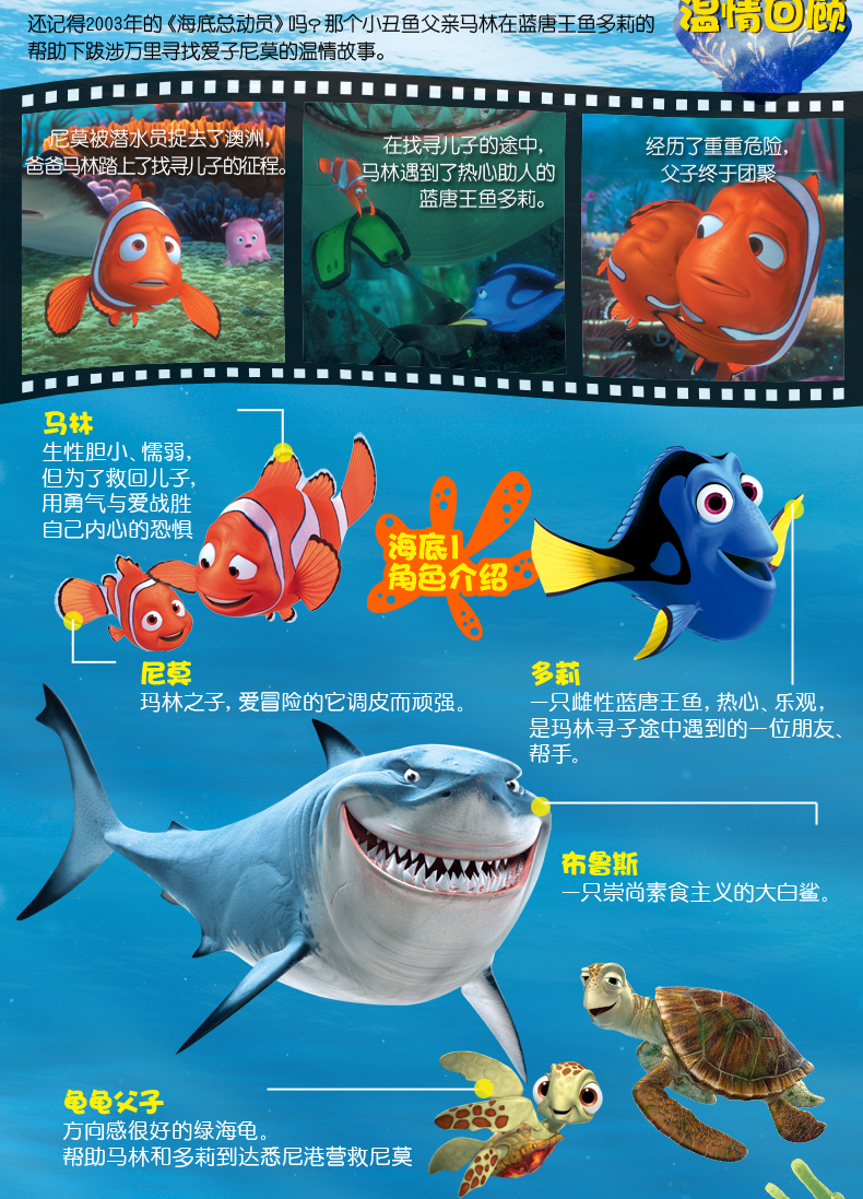 迪士尼大电影双语阅读·海底总动员2:多莉去哪儿 finding dory