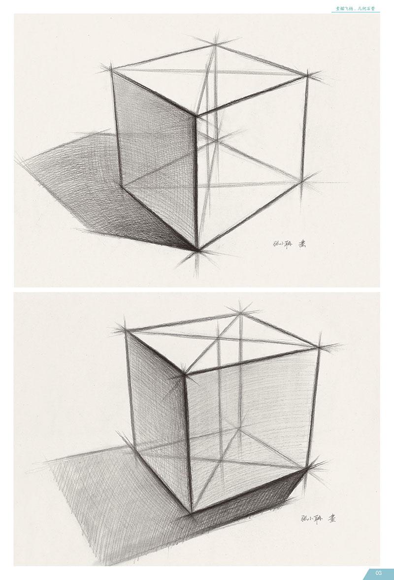 基本透视知识 01  two结构素描篇 02  1.单体部分 02  2.