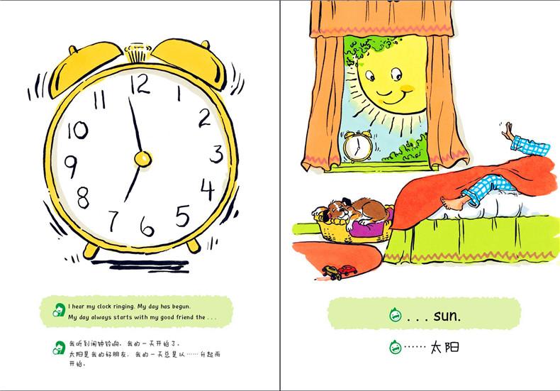 正版图书k_儿童英语分级亲子共读绘本(预备级)我的一天 9787122238146