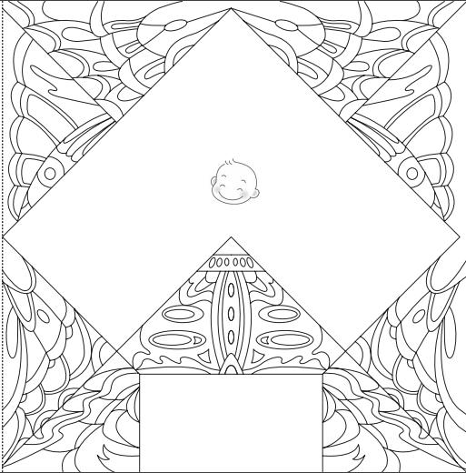立体蝴蝶简笔画 步骤