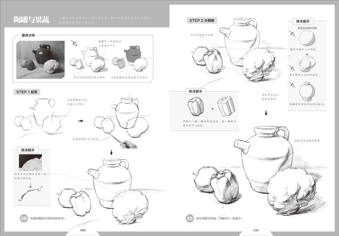 柠檬画法素描结构